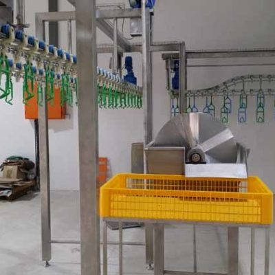 MPES Compact 4000 Line Rehang Station installation
