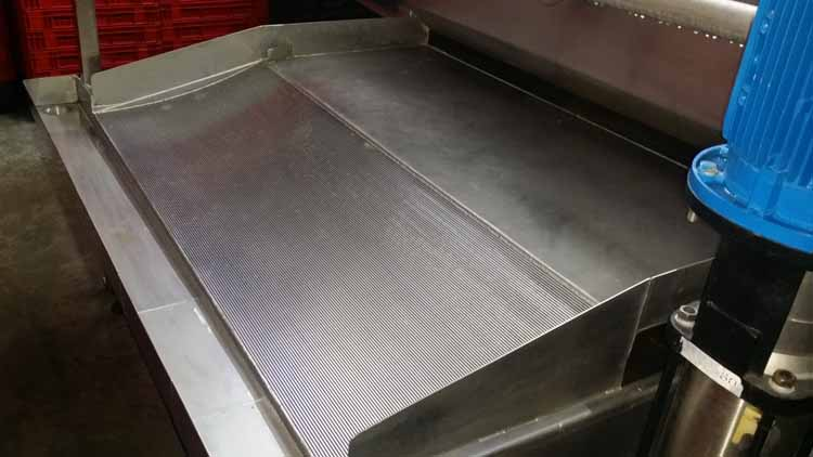 MPES Crate Washer Seperation Screen